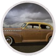 1941 Chevy Special Deluxe Round Beach Towel