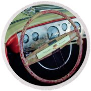 1941 Chrysler Newport Dual Cowl Phaeton Steering Wheel Round Beach Towel