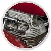 1941 Indian 4 Cyl Motorcycle Round Beach Towel