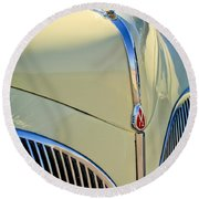 1941 Lincoln Continental Cabriolet V12 Grille Round Beach Towel