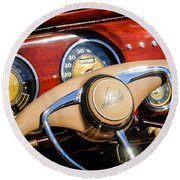 1941 Lincoln Continental Cabriolet V12 Steering Wheel Round Beach Towel