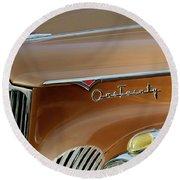 1941 Packard Hood Ornament 2  Round Beach Towel by Jill Reger