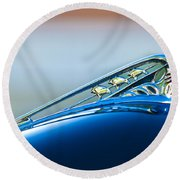 1941 Plymouth Hood Ornament Round Beach Towel