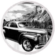 1941 Roadmaster - Half Dome Round Beach Towel