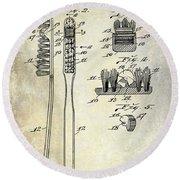 1941 Toothbrush Patent  Round Beach Towel