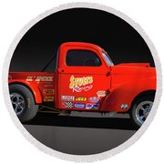 1941 Willys Racer Round Beach Towel