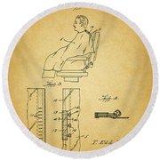 1943 Barber Apron Patent Round Beach Towel