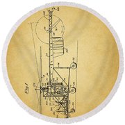 1943 Helicopter Patent Round Beach Towel