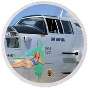 1944 Maid In The Shade  Round Beach Towel