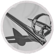 1946 Buick Hood Ornament Round Beach Towel