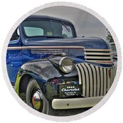 1946 Chevy Round Beach Towel