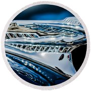 1946 Desoto Hood Ornament Round Beach Towel