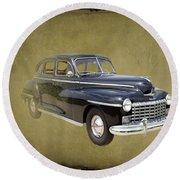 1946 Dodge D24c Sedan Round Beach Towel