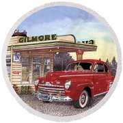 1946 Ford Deluxe Coupe Round Beach Towel