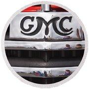 1946 Gmc Truck Grill 2 Round Beach Towel