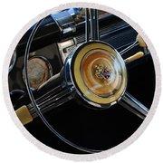 1947 Buick Eight Super Steering Wheel Round Beach Towel