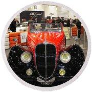 1947 Delahaye 135m Letourner Et Marchand Cabriolet Round Beach Towel