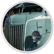 1947 Ford Cab Over Truck Round Beach Towel