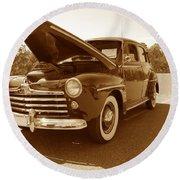 1947 Ford Round Beach Towel