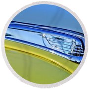 1947 Ford Super Deluxe Hood Ornament 2 Round Beach Towel