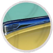 1947 Ford Super Deluxe Hood Ornament Round Beach Towel