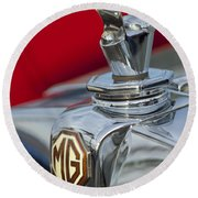 1947 Mg Tc Non-standard Hood Ornament Round Beach Towel