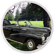 1947 Pontiac Convertible Photograph 5544.07 Round Beach Towel