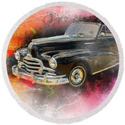 1947 Pontiac Convertible Photograph 5544.08 Round Beach Towel