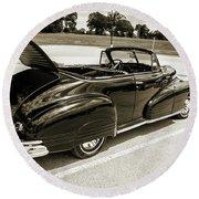 1947 Pontiac Convertible Photograph 5544.64 Round Beach Towel