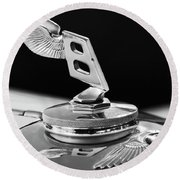 1948 Bentley Hood Ornament 3 Round Beach Towel