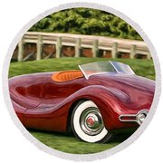 1948 Buick Streamliner Round Beach Towel