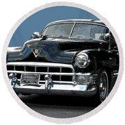 1948 Cadillac Fastback Round Beach Towel