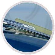 1948 Chevrolet Fleetline Hood Ornament Round Beach Towel