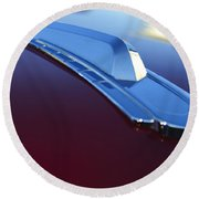 1948 Chevrolet Pickup Hood Ornament Round Beach Towel