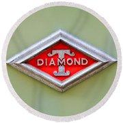 1948 Diamond T Emblem -ck0879c Round Beach Towel