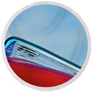 1948 Ford Coupe Sedan Hood Ornament Round Beach Towel