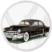 1949 Cadillac Fleetwood Sedan Round Beach Towel