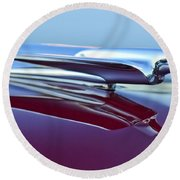 1949 Cadillac Hood Ornament Round Beach Towel