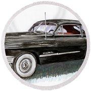 1949 Cadillac Sedanette Round Beach Towel