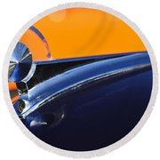 1949 Ford Hood Ornament 5 Round Beach Towel