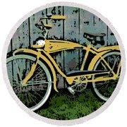 1949 Shelby Donald Duck Bike Round Beach Towel