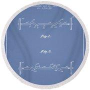 1950 Barbell Patent Spbb04_lb Round Beach Towel