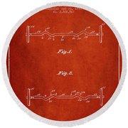 1950 Barbell Patent Spbb04_vr Round Beach Towel