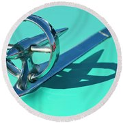 1950 Buick Hood Ornament Round Beach Towel