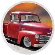 1950 Chevrolet 3100 Pickup 'show Low' I Round Beach Towel