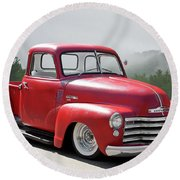 1950 Chevrolet 3100 Pickup 'show Low' II Round Beach Towel