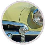1950 Chevrolet Fleetline Grille Round Beach Towel