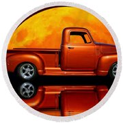 1950 Chevy Pickup Poster Round Beach Towel