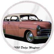 1950 Dodge Wayfarer 2 Door Sedan Round Beach Towel