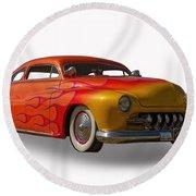 1950 Mercury Coupe Round Beach Towel